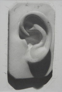 Ear Cast Drawing - Arthur Haywood